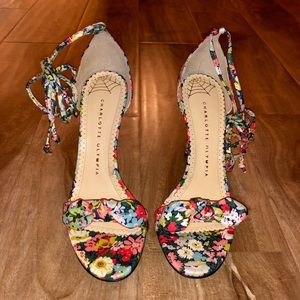 404ea473fc996 Charlotte Olympia Shoes - NEW Charlotte Olympia Shelley Bow ankle-tie sandal